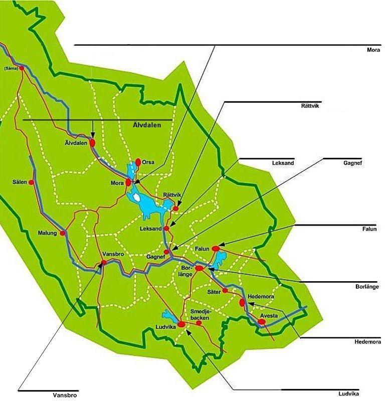 orter i dalarna karta Sonesgården   Lokalmynt från Dalarna orter i dalarna karta