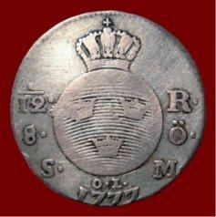 riksdaler silvermynt värde