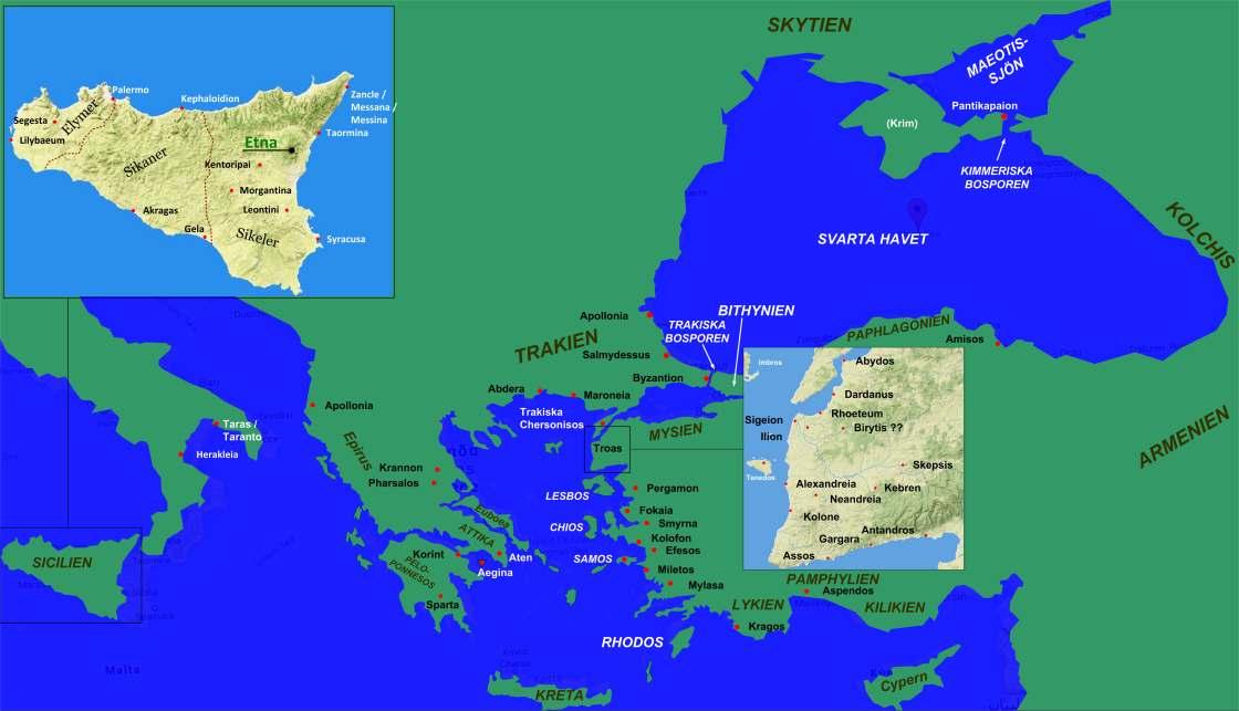 Karta Aten Grekland.Sonesgarden Silvergalleriet