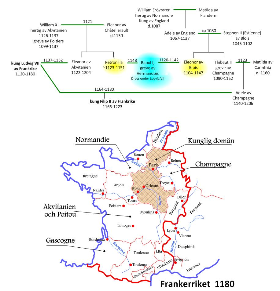 Karta Champagnedistriktet Frankrike.Sonesgarden Silvergalleriet